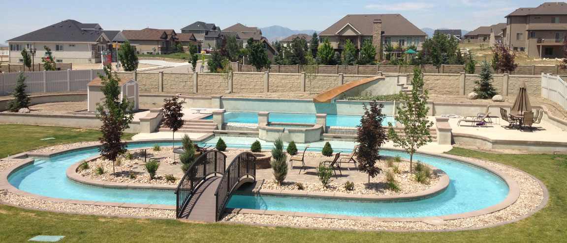 All seasons pool spa utah for Pool design utah